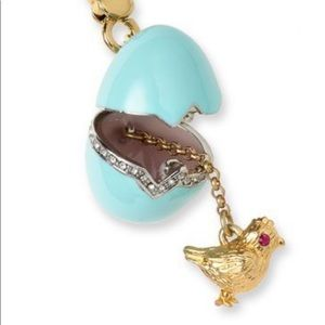 New Juicy couture Easter Blue egg chick charm